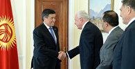 Президент КР Сооронбай Жээнбеков принял министра иностранных дел Государства Палестина Рияда Малки