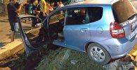 Кечээ түнү борбор калаада дагы бир жол кырсыгы катталып, анда такси менен Honda HR-V үлгүсүндөгү унаа кагышкан