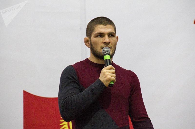 Известный российский боец UFC Хабиб Нурмагомедов в Бишкеке