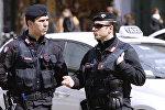 Полиция на улицах Италии. Архивное фото