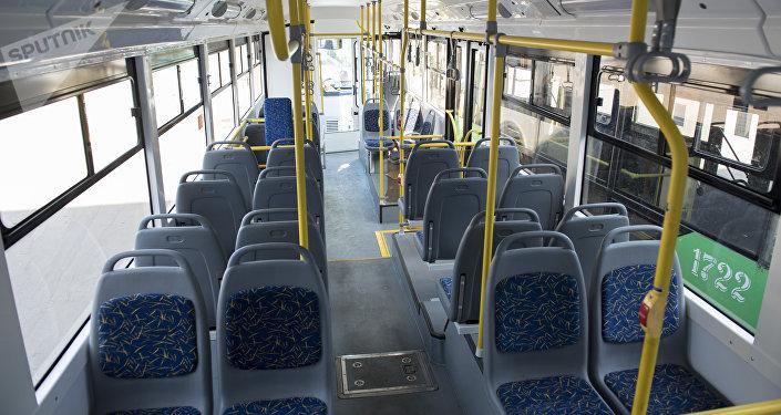 Салон троллейбуса. Архивное фото