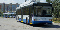 Троллейбус на стоянке Бишкекского троллейбусного управления. Архивное фото