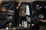 Женщина на открытии музея геноцида, посвященного трагическим событиям августа 2008 года в Южной Осетии. Архивное фото