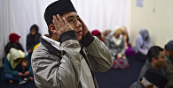 Мусульмане в мексиканском городе Сан-Кристобале во время молитвы