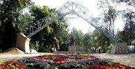 Ош шаарындагы Токтогул Сатылганов атындагы паркты реконструкциялоонун биринчи этабы соңуна чыкты