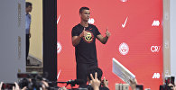 Португальский футболист, форвард Ювентуса Криштиану Роналду. Архивное фото