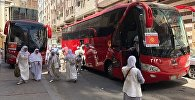 Быйыл Меккеге барган кыргызстандык зыяратчыларды мейманканадан ыйык Харам мечитине атайын автобустар ташып жатканын муфтияттан билдиришти