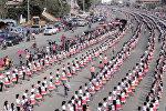 15 миң адам самба бийлеп Гиннеске кирди. Көз жоосун алган бийдин видеосу