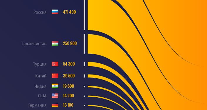 Рейтинг стран, откуда приезжают в Кыргызстан