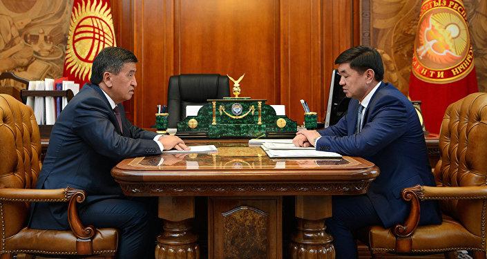 Президент КР Сооронбай Жээнбеков встретился с Мухаммедкалыем Абылгазиевым