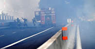 Пожар на автомагистрали на окраине Болоньи