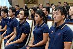 Азия оюндарына баратурчу Кыргызстандын спортчулары. Архивдик сүрөт