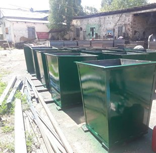 Изготовление мусорных контейнеров третьему Всемирному игр кочевников