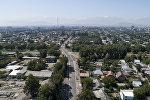 Вид на отремонтированную улицу Орозбекова Бишкека с высоты. Архивное фото