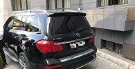 Контрабандный автомобиль марки Mercedes, изъятый в КР