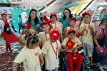 Как в Кыргызстане встречали призеров Всемирных игр победителей. Видео