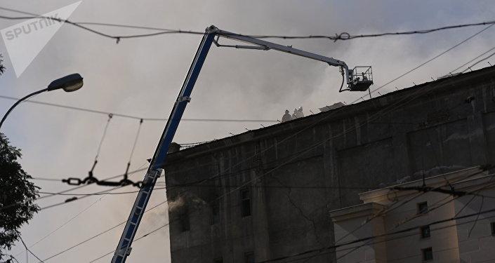 Маалыматка ылайык, 9-августтун таңында Москва жана Фучик көчөлөрүнүн кесилишинде жайгашкан ун чыгаруучу заводдон өрт чыккан