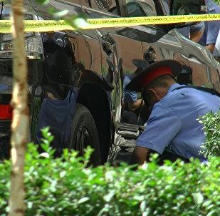 Взрыв на улице Исанова в Бишкеке — видео с места происшествия