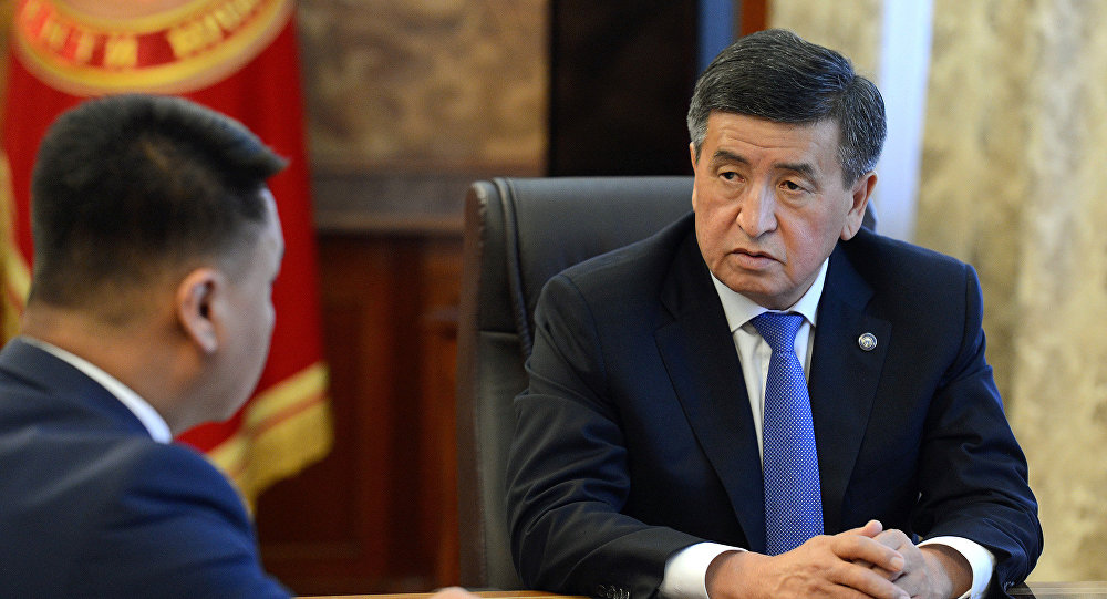 Президент Кыргызской Республики Сооронбай Жээнбеков принял секретаря Совета безопасности КР Дамира Сагынбаева