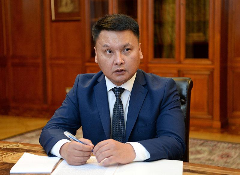 Секретарь Совета безопасности КР Дамир Сагынбаев во время визита к президенту КР. 10 августа, 2018 года