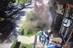 Видео момента взрыва в центре Бишкека появилось в соцсетях