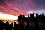 Нью-Йорктун Манхэттенине көрүнүш. Архивдик сүрөт
