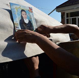 Чүйдүн Жайыл районундагы милиция бөлүмүндө өлтүрүлгөн Бурулайдын зыйнаты. Архив