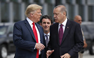 Президенты Турции Реджеп Тайип Эрдоган и США Дональд Трамп. Архивное фото