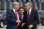 АКШнын жана Түркиянын президенттери Дональд Трамп жана Реджеп Тайип Эрдоган. Архив