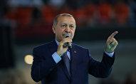 Түркиянын лидери Режеп Тайип Эрдогандын архивдик сүрөтү