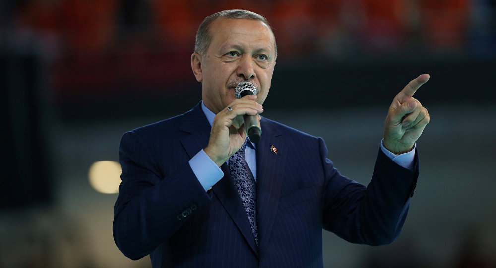 Архивное фото президента Турции Реджепа Тайипа Эрдогана