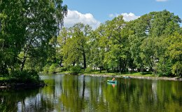 Санкт-Петербургдагы парк. Архивдик сүрөт