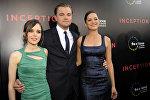 Актеры фильма Начало Эллен Пейдж, слева, Леонардо Ди Каприо, в центре и Марион Котийяр. Архивное фото