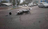 ДТП с участием мотоцикла в Бишкеке