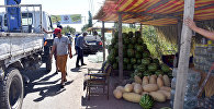 Чүй облустук милициясынын кызматкерлери менен мамлекеттик администрация өкүлдөрү жайма базарларды жок кылуу боюнча рейд өткөрөт
