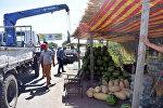 Рейд по ликвидации стихийной торговли в Чуйской области