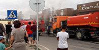 Пожар в лагманной в Бишкеке