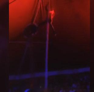 Артистка цирка упала с высоты на глазах у зрителей — видео из Казахстана