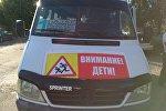 В Чуйской области в рамках месячника Внимание: дети! на маршрутных микроавтобусах установили предупреждающие баннеры