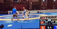 Айсулуу Тыныбекова жеңишти атаандашынан акыркы секунддарда жулуп алды. Видео