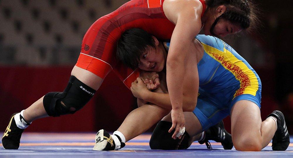 Азиатские игры 2018. Женская борьба до 68 кг. Борьба за третье месте