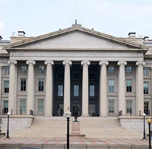 Фасад министерство финансов США в Вашингтоне