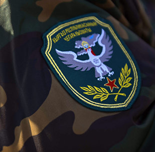 Военный шеврон пограничника Кыргызской Республики