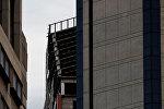 Накренившийся двухсотметровый недостроенный небоскреб, известного как Башня Давида после землетрясения в Каракасе, Венесуэла 21 августа 2018 года.
