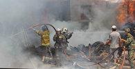 В селе Новопавловка Сокулукского района Чуйской области горит жилой дом