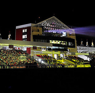 Вид на ипподром на церемонии закрытия Всемирных игр кочевников. Архивное фото