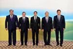 Борбор Азия президенттери жана Казакстандын биринчи президенти Нурсултан Назарбаев. Архивдик сүрөт