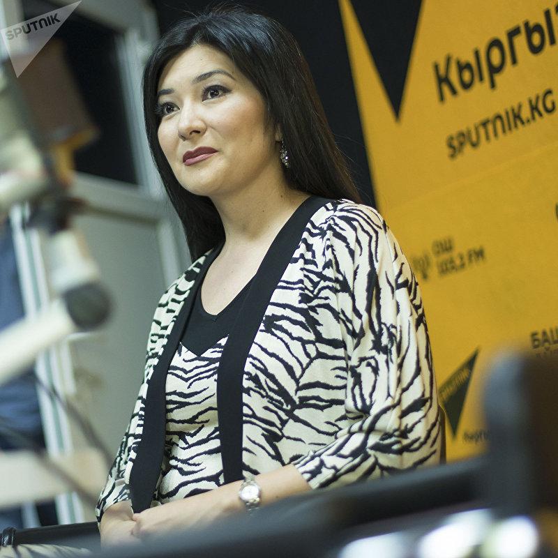 Кыргызстанка, работающая в МАГАТЭ (Международное агентство по атомной энергии), дизайнер Гульнур Тоялиева во время интервью Sputnik Кыргызстан
