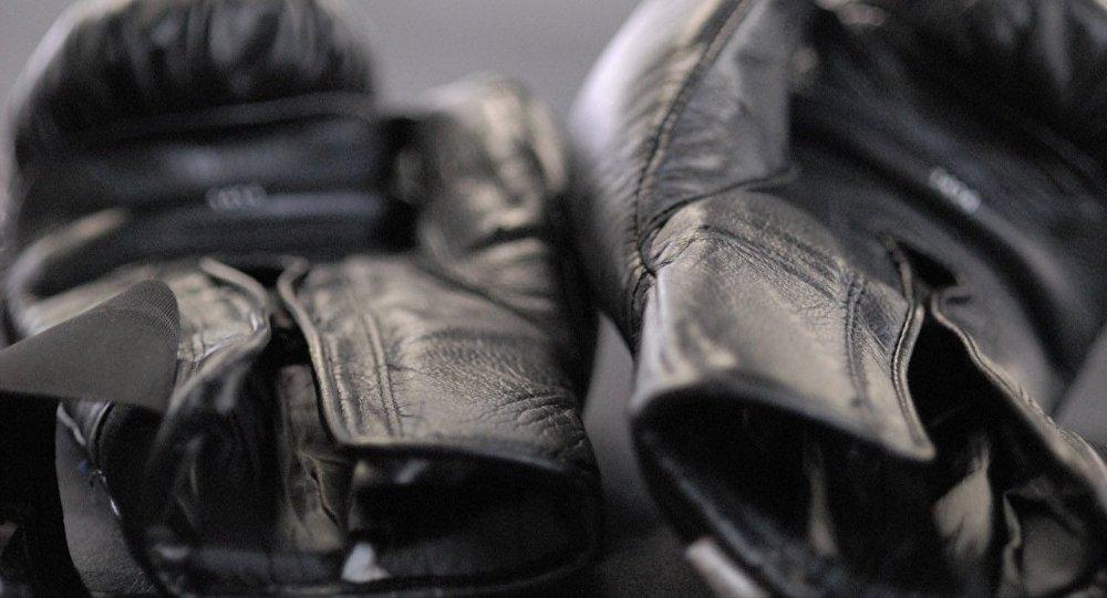 Боксерские перчатки на ринге. Архивное фото