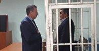 Экс-мер Бишкека Албек Ибраимов во время заседания суда в Первомайском районном суде